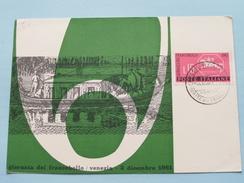 GIORNATA DEL FRANCOBOLLO / VENEZIA ( Circolo Filatelico Veneziano ) 1961 ( Zie Foto ) ! - Cartes-Maximum (CM)