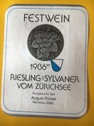 5635 -  Festwein Zürcher Kant.Schützenfest 1987 (Fête Cantonale De Tir) Riesling X Sylaner 1986 De Zürich - Autres