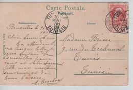 TP 74 S/CP BXL Palais De La Nation C.Schaerbeek R.Royale Ste Marie 27/5/1909 V.Tunisie C.d'arrivée AP1192 - 1905 Grosse Barbe
