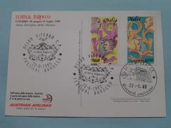 FESTIVAL BAROCCO - VITERBO 1985 / Austrian Airlines ( Zie Foto ) ! - Cartes-Maximum (CM)