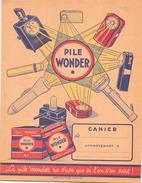 Protège-cahiers Publicitaire Pile Wonder - Piles