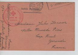 CP En Franchise C.Croix Rouge De Belgique Comité De Schaerbeek C.méc.Bordeaux 26/7/1940 V.Cap Ferrat AP1193 - Croix-Rouge
