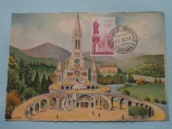 LOURDES La Basilique - L'Esplanade ( Esposizione Universale ROMA ) 1958 ( Zie Foto ) ! - Cartes-Maximum (CM)