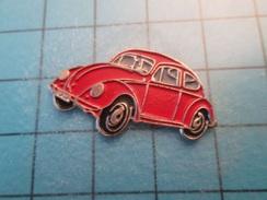 Pin613c Pin's Pins : Rare Et Belle Qualité : VOITURE VW VOLKSWAGEN COCCINELLE BLANCHE , Marquage Au Dos : ----- - Volkswagen