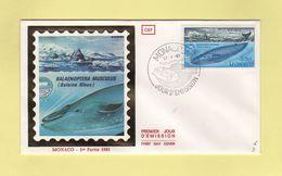 FDC Monaco - Baleine Bleue - 1983 - Ballenas