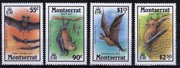 Montserrat Set Of Stamps To Celebrate Bats 1988. - Montserrat