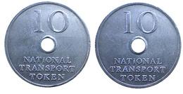 03957 GETTONE TOKEN JETON FICHA TRASPORTI TRANSIT NATIONAL TRANSPORT TOKEN 10 P ALU - Unclassified