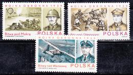 Pologne 1987 N° Y&T :   2921 à 2923  (gomme Tâchée)** - 1944-.... République