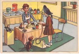 NEDERLANDSE STRIPVERHAAL HUMOR (original Vintage Illustratie 1955 )  Och Ja , Mijnheer De Kruidenier ... - Humour