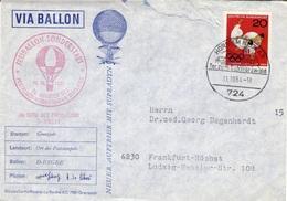 D+ Deutschland 1964 Mi 451 Olympische Spiele Auf Ballonpost - [7] Federal Republic