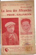 """Partition """"La Java Des Affranchis"""" Créée Par PRIOR Et GALIARDIN - Partitions Musicales Anciennes"""