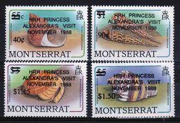 Montserrat Set Of Stamps To Celebrate Princess Alexandras Visit 1988. - Montserrat
