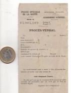 Procès-verbal Papier Vierge, Police De La Route, Gendarmerie Nationale, Format 7 X 13, état Médocre, Voir Scan - Old Paper