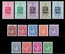 St. Lucia 1949-1950 MH Set SG 146/159 £45 - St.Lucia (...-1978)