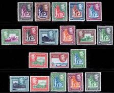 St. Vincent 1949-1952 MNH (7c MVLH) Set SG 164/177 Cat £40 - St.Vincent (...-1979)