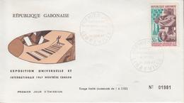 Enveloppe FDC  1er Jour   GABON    Exposition  Universelle   MONTREAL   1967 - 1967 – Montréal (Canada)