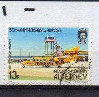 ALDERNEY  1985 Airport 13p Used - Alderney