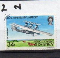 ALDERNEY  1985 Airport 34p Used - Alderney