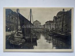 TRIESTE Canale Barca Vela Veliero Vecchia Cartolina 22457 - Trieste