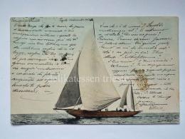 TRIESTE Barca Vela Vecchia Cartolina 2186 - Trieste