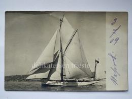 TRIESTE Barca Vela Vecchia Cartolina - Trieste