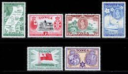 Tonga 1951 MH Set SG 95/100 £11.5 - Tonga (...-1970)
