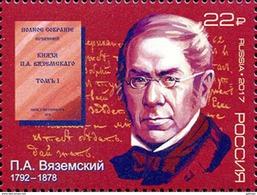 2017-2239 1v Russia Russland Russie Rusia Pyotr Vyazemsky Poet, Historian Mi 2456 MNH - 1992-.... Federazione