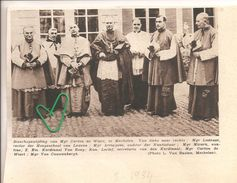 MECHELEN...1934...BISSCHOPWIJDING. MGR. LADEUZE..RECTOR HOGE SCHOOL LEUVEN. - Oude Documenten