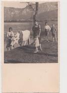 VALSUGANA S CRISTOFORO BAMBINI CON MUCCA LAGO ANNO 1940 FOTOGRAFICA FTO PICC. - Trento