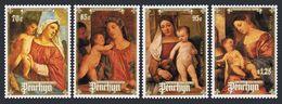 PENRHYN 1988 - Noël 88, La Vierge Et L'enfant, Peintures De Titien - 4 Val Neufs // Mnh - Penrhyn