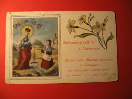 CARTOLINA  SANTUARIO DELLA BEATA VERGINE DI CARAVAGGIO       - D 1000 - Bergamo