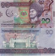TURKMENISTAN   New.  20.  Manat.  Commemorative Asian Olympics.  2017 UNC - Turkmenistan