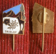 Alpine, Climbing, Mountain Ex Yugoslavia, Slovenia -- TRIGLAV  Old Enamel  Pin / Badge 3 - Alpinism, Mountaineering