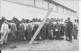 1914 Soldats Français 40ème Régiment D'artillerie à Cheval Palefreniers Soins Des Chevaux 1 Carte Photo Ww1 14-18 - War, Military