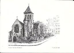 BRUXELLES (1140) - Religion : Eglise St-Joseph, Chaussée De Louvain (place Jean De Paduwa) à Evere. Dessin De Canivet. - Evere