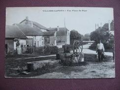 CPA 21 VILLERS LES POTS Une Place Du Pays Puits Et Abreuvoir ANIMEE 1932 Canton AUXONNE - France
