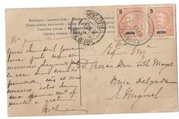 (P74) - ANGRA - AFINSA N°14 - BILHETE POST CARD => PONTA DELGADA 1907 - Angra