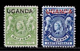 Uganda 1902 MH Set SG 92/93 - Kenya, Uganda & Tanganyika