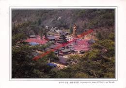 A Panoramic View Of Popchu-sa Temple - Korea - Corée Du Sud
