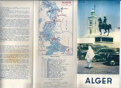 Dépliant Touristique Alger Vers 1955 - Folletos Turísticos