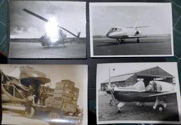 AVIATION 4 PHOTOS ORIGINALES D'AVIONS COMMERCIAUX ET HELICOPTERE A DETERMINER - Aviación