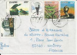 ZAIRE ENVELOPPE AVEC 5 TIMBRES DEVANT ET 1 AU DOS CACHET DE MR MOURER JACQUES GECAMINES BRUXELLES ANNEE 1985 ? - Zaïre