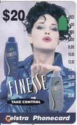 AUSTRALIA - Finesse Shampoo/Blue Dress, Used - Advertising