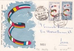 Italy 1957 FDC Europa CEPT   (T13-39) - Europa-CEPT
