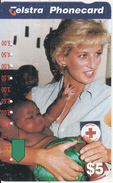 AUSTRALIA - Princess Diana/Australian Red Cross, Used - Characters