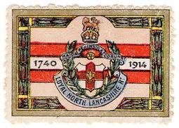(I.B) Cinderella : Delandre Great War Regiments - North Lancashire Regiment - Sin Clasificación