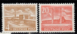 D+ Berlin 1953 Mi 112-13 Mnh Bauten - Neufs