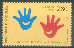 Andorra (French Adm.), Andorran School, 1993, MNH VF - French Andorra