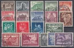DR 19 Marken Aus 1933-1945 Gestempelt Lot 4 - Lots & Kiloware (max. 999 Stück)