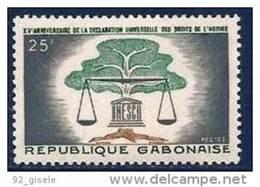 """Gabon YT 168 """" Droits De L'Homme """" 1963 Neuf** - Gabon (1960-...)"""